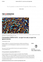 Coronavirus SARS-CoV-2_ ceque l'on sait, ceque l'on ignore encore