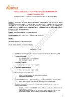 Procés verbal du conseil d'administration FD du 21 novembre 2020 en attente d'approbation