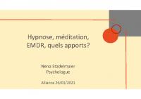 Webinaire Alliance Hypnose méditation emdr, 26.01.2021