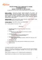 Procés verbal CA 13 mars 2021 en attente approbation