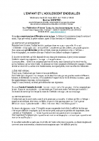 enfants adolescents endeuillés Quentric M 23.3.2021