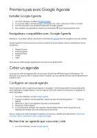 Premiers pas avec Google Agenda